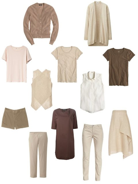 Olive, Wine and Gold join A Common Capsule Wardrobe, warm