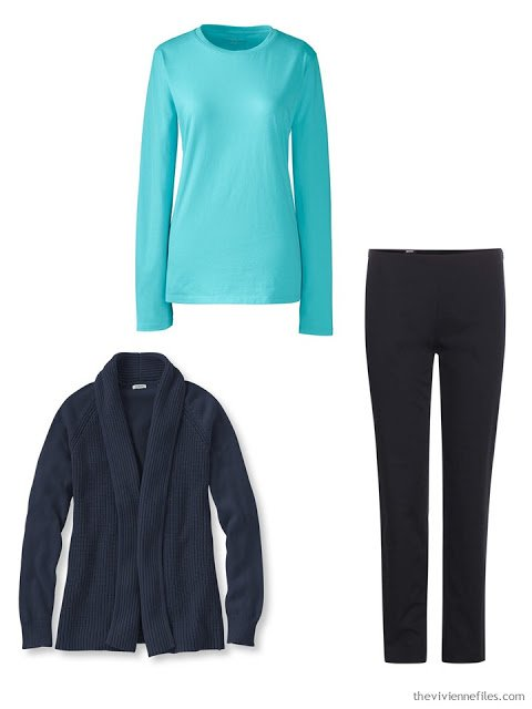 How to Build a Capsule Wardrobe One Piece at a Time in Navy, Beige Turquoise and Yellow