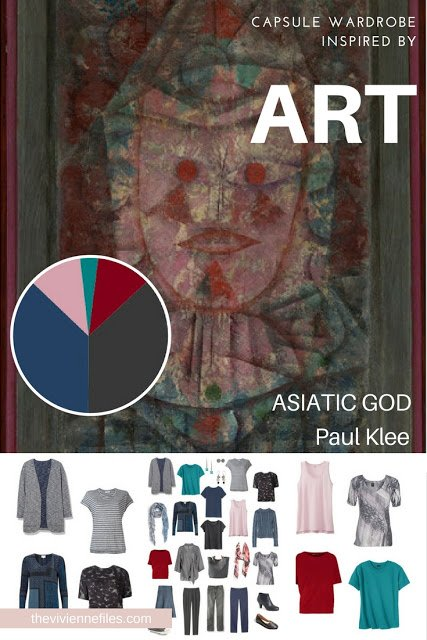 How to Build a Capsule Wardrobe by Starting with Art: Asiatic God by Paul Klee