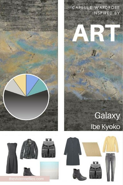 How to Build a Travel Capsule Wardrobe by Starting with Art: Galaxy by Ibe Kyoko