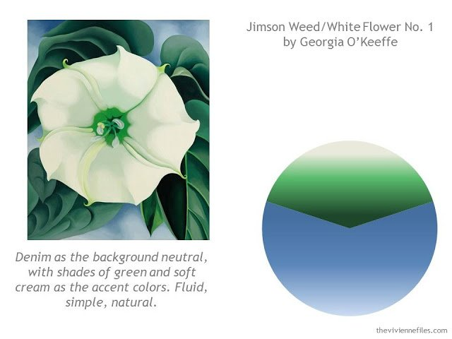 how to Build a Capsule Wardrobe by Starting with Art: Jimson Weed/White Flower No. 1 by Georgia O'Keeffe Part 3