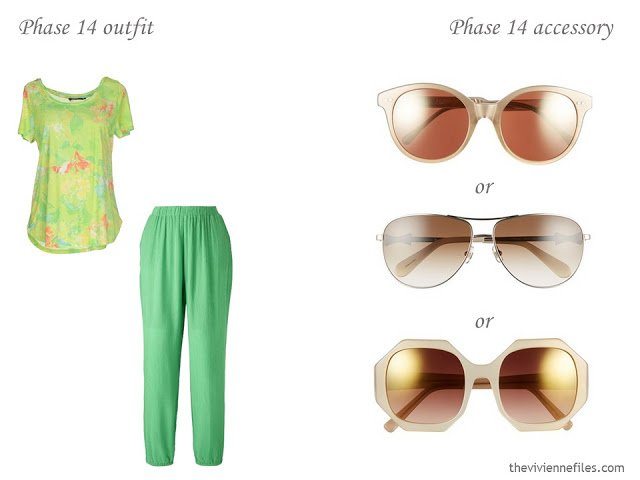 How to Build a Capsule Wardrobe of Accessories in a Lime, Coral, Beige and Cream color palette