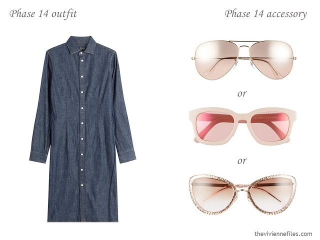 How to Build a Capsule Wardrobe of Accessories in a Denim, Stone, Pink and Soft Blue color palette