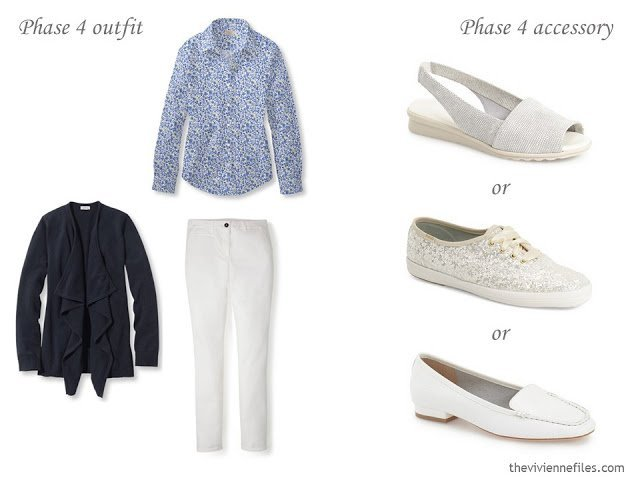How to Build a Capsule Wardrobe of Accessories in a navy, yellow, and white color palette