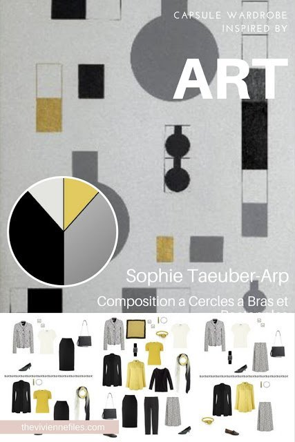 Building a Capsule Wardrobe by Starting with Art: Composition a Cercles a Bras et Rectangles by Sophie Taeuber-Arp