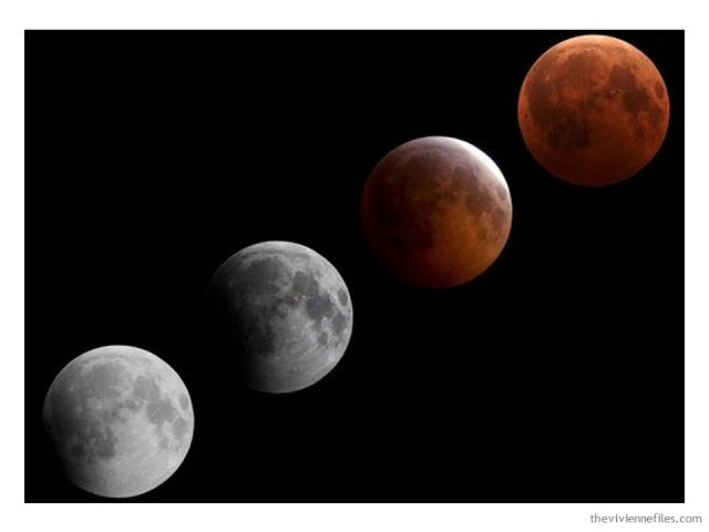 Building a Capsule Wardrobe by Starting with Art: Lunar Eclipse Montage by Dr. Robert Vanderbei