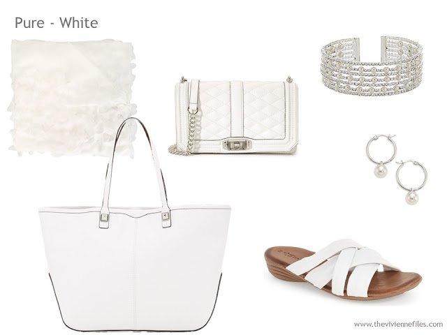 Adding Accessories to a Capsule Wardrobe in 13 color families -  white