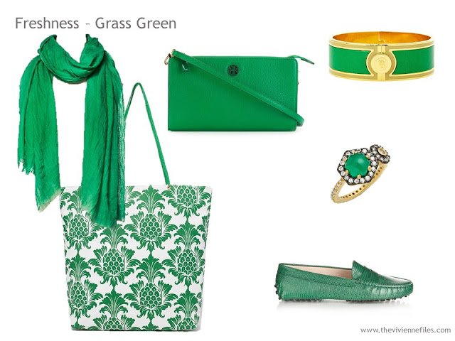 Adding Accessories to a Capsule Wardrobe in 13 color families -  green