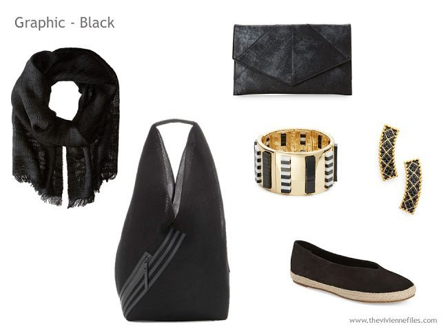 Adding Accessories to a Capsule Wardrobe in 13 color families -  black