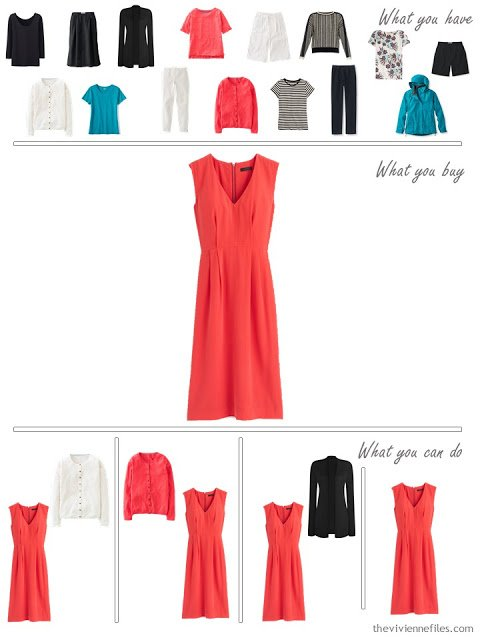 How to Build a Capsule Wardrobe in Turquoise, Coral, Black, and Grey - What to add