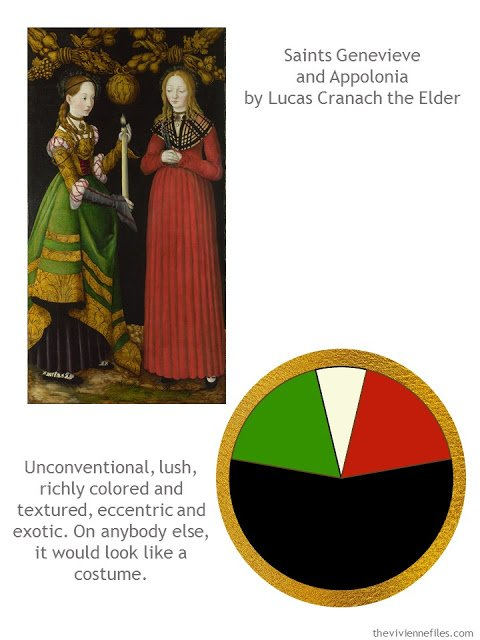 Building a Capsule Wardrobe by Starting with Art: Saints Genevieve and Appolonia by Lucas Cranach the Elder