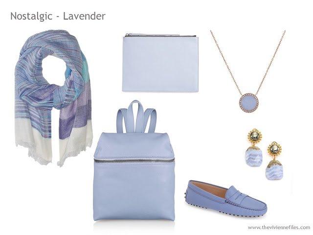 Adding Accessories to a Capsule Wardrobe in 13 color families -  light purple