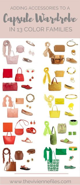 Adding Accessories to a Capsule Wardrobe in 13 color families