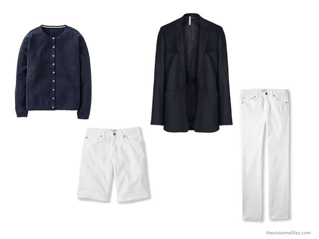 More capsule wardrobe options in navy and white