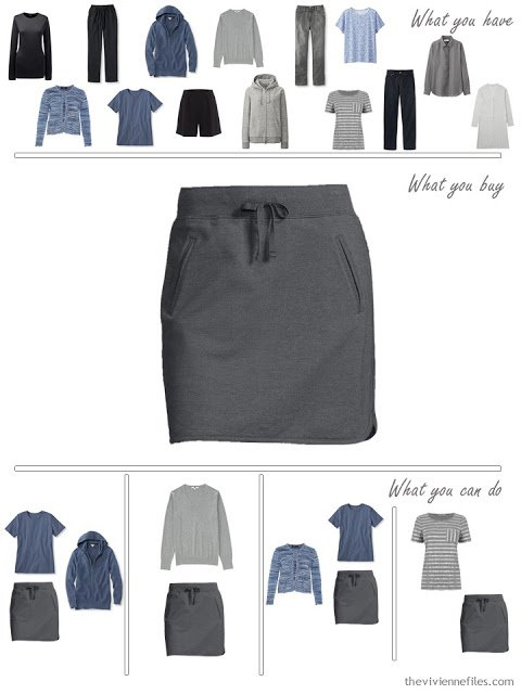How to build a capsule wardrobe from scratch in black, blue, and grey