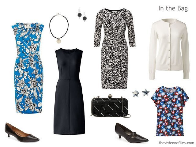 Packing a business travel wardrobe with 3 dresses