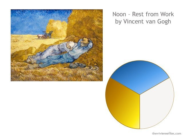 Capsule wardrobe color palette based on Rest from Work by Vincent van Gogh