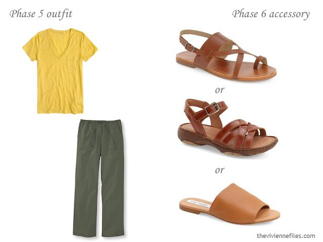How to Add Accessories to a Capsule Wardrobe: Olive, White, Tomato and Mustard - shoes