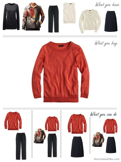 How to build a capsule wardrobe around an art jacket in black, ivory, and russet red