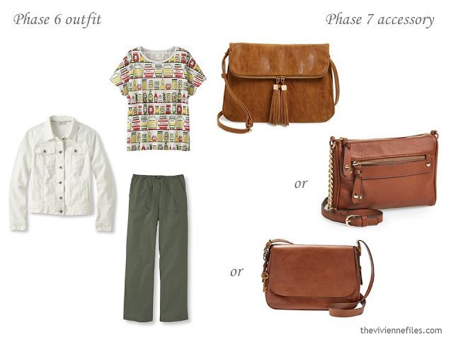 How to Add Accessories to a Capsule Wardrobe: Olive, White, Tomato and Mustard - handbags