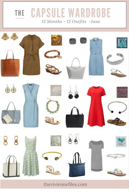 12 Months, 12 Outfits in 6 Capsule Wardrobes: June