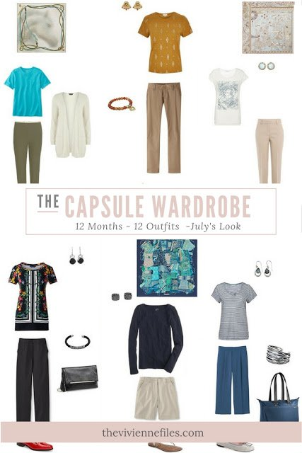 12 Months, 12 Outfits in 6 Capsule Wardrobes: July