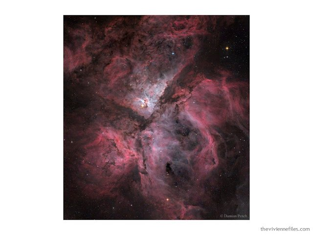photograph of the Great Nebula in Carina by Damian Peach