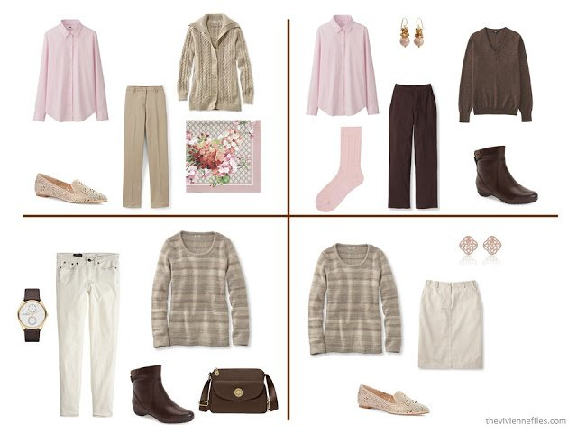 How to Build a Fall & Winter Capsule Wardrobe in Brown, Khaki and Pink