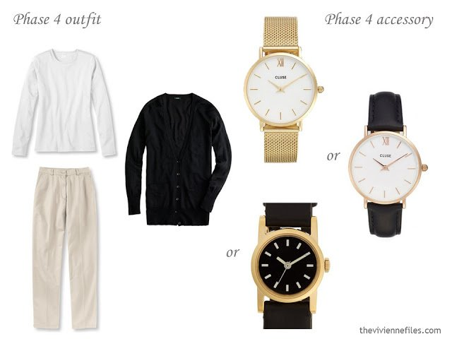3 watches to wear with a black, white and beige outfit
