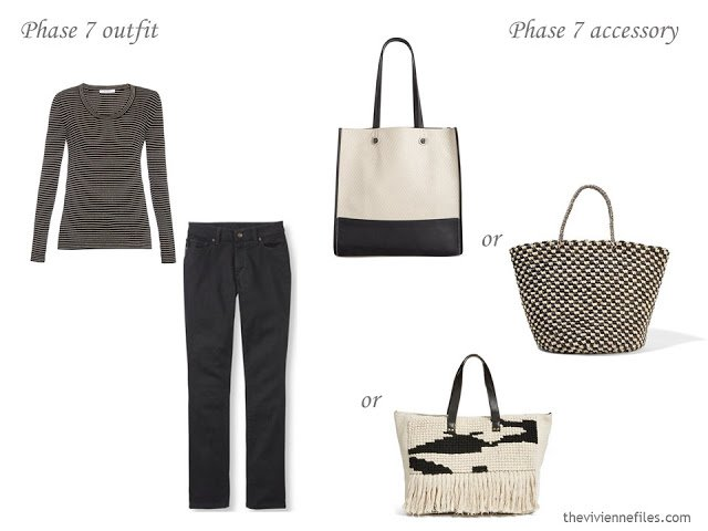 What tote bag to carry with a black outfit?