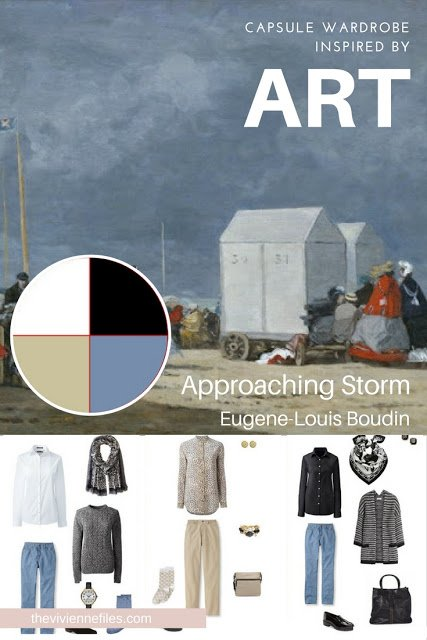 Build a Travel Capsule Wardrobe by Starting with Art: Approaching Storm by Eugene-Louis Boudin