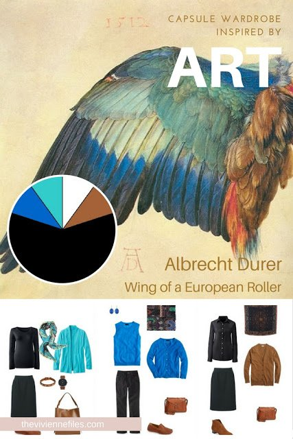 Build a Capsule Wardrobe by Starting with Art: Wing of a European Roller by Albrecht Durer