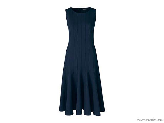 14 ways to wear a simple navy dress in a capsule wardrobe