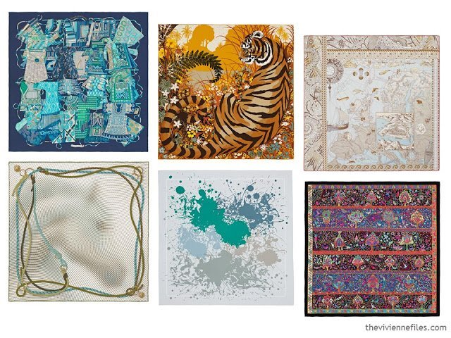 6 Hermes scarves from Spring 2016