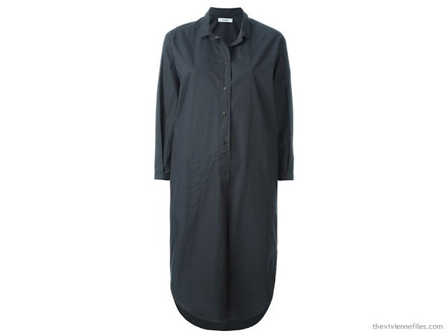 a perfect dark grey shirtdress