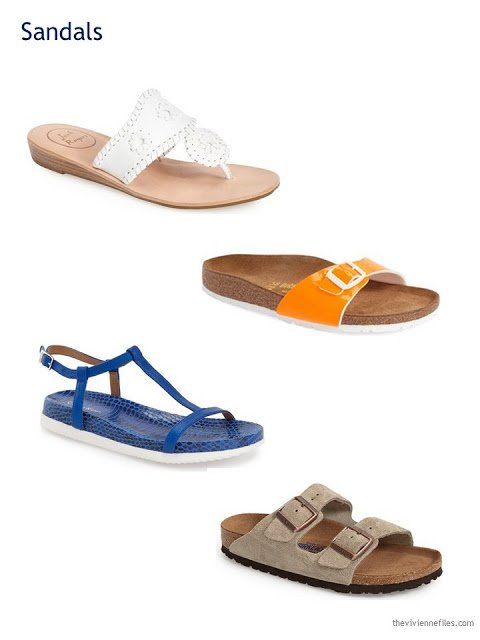 A Capsule Wardrobe in Beige, Bright Blue and Orange: Expanding Your Accessories - shoes