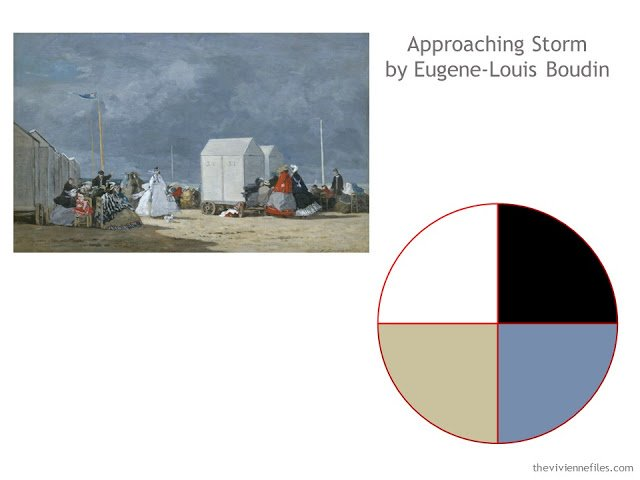 Approaching Storm by Eugene-Louis Boudin and a neutral color scheme taken from the painting