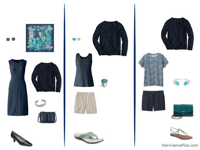 3 ways to wear a navy cardigan