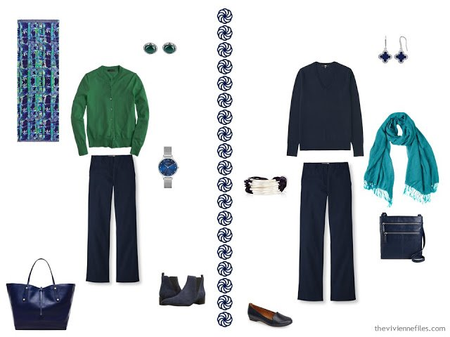 Build a travel Capsule Wardrobe by Starting with Antique French Ceramic Tiles