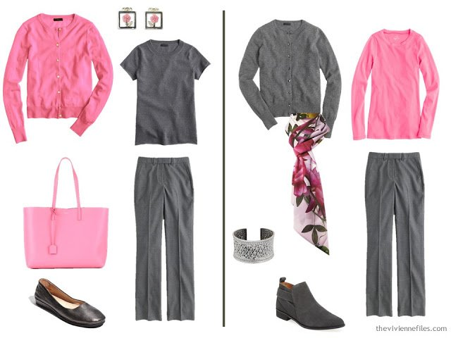 How to wear a hint of Hibiscus pink in the capsule wardrobe