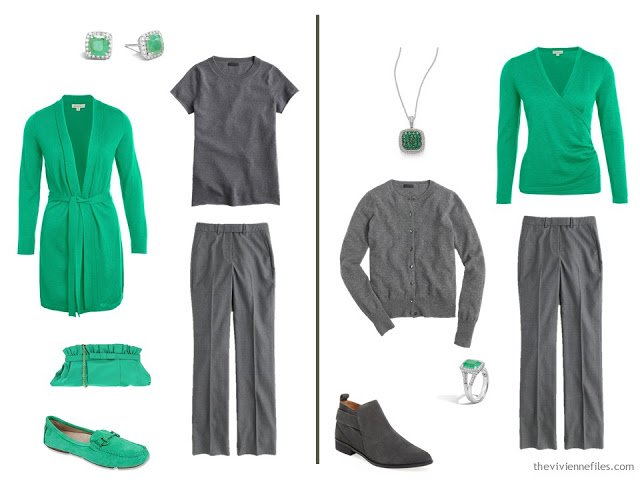 How to wear a sprig of shamrock green in the capsule wardrobe