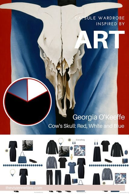 Build a Capsule Wardrobe by Starting with Art: Cow's Skull: Red, White and Blue by Georgia O'Keeffe