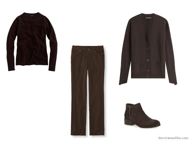 Brown foundation capsule wardrobe