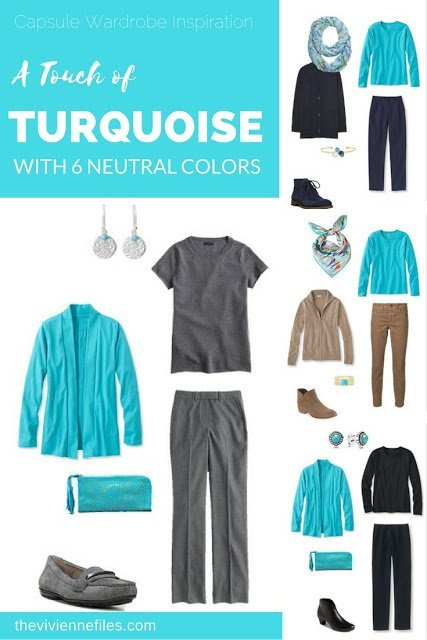 How to wear a touch of turquoise in the capsule wardrobe
