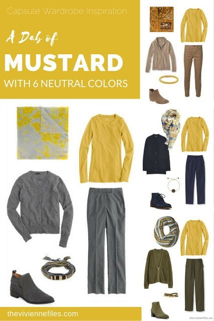 Capsule Wardrobe Color Palette A Dab Of Mustard With 6 Neutral