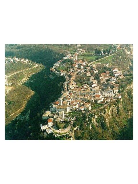 aerial view of Roccamorice, Abruzzo, Italy