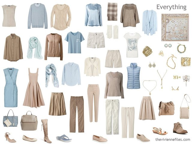 24-piece capsule wardrobe for a Summer