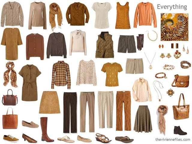 24-piece capsule wardrobe for Autumns