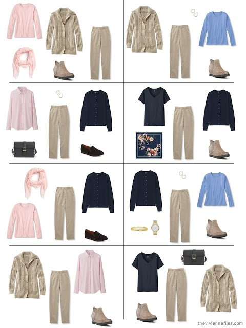 how to wear khaki pants, from a Starting From Scratch Wardrobe