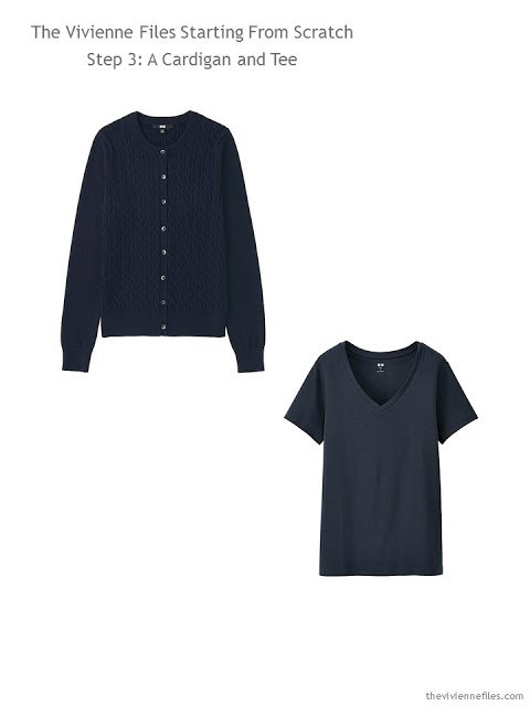 A navy and cardigan additions to a Starting From Scratch Wardrobe